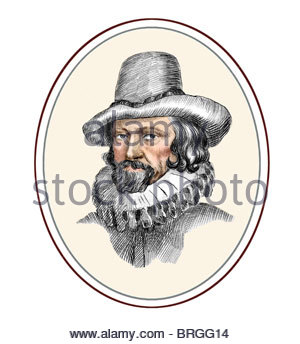 Francis Bacon 1561 1626 English Philosopher Statesman Modern Cross Hatch Drawing - Stock Photo