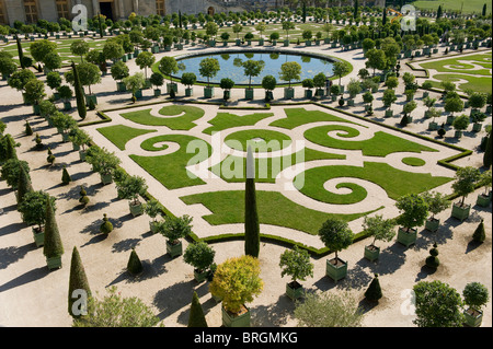 palace of versailles gardens, france - Stock Photo