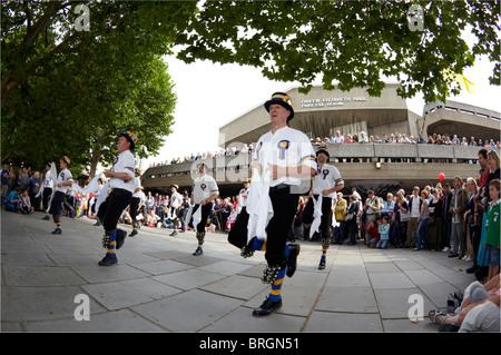 Morris Dancers Southbank London UK Europe - Stock Photo