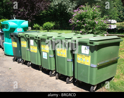 Recycling bins in France - Stock Photo