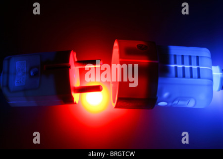 Electrical power plug and socket. - Stock Photo
