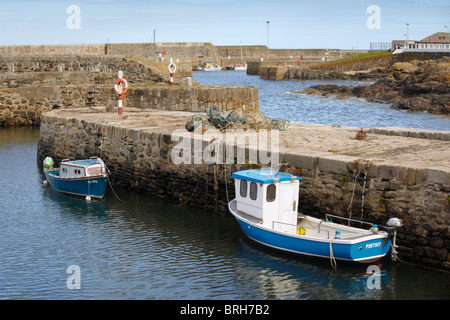 The seventeenth century harbour at Portsoy near Banff in Aberdeenshire, Scotland - Stock Photo