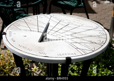 dial sundial sun measure Latin Rome Italy old time - Stock Photo
