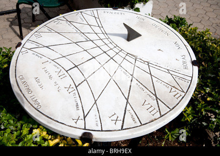 old time dial sundial sun measure Latin Italy - Stock Photo