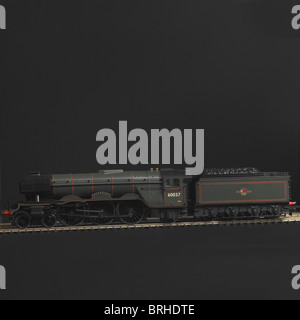 Pacific Class A3 Steam Locomotive, BR - Stock Photo