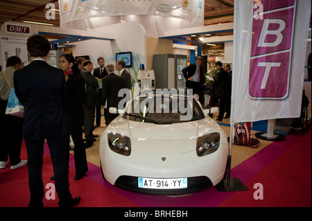 Paris, France, Paris Car Show, Stu-dent Concept Car, DBT France, Essenza, Universite de Technologie de Belfort, - Stock Photo
