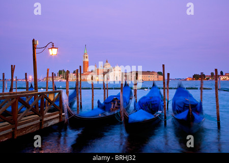 Europe, Italy, Venezia, Venice, Listed as World Heritage by UNESCO, View of San Giorgio Island from San Marco - Stock Photo