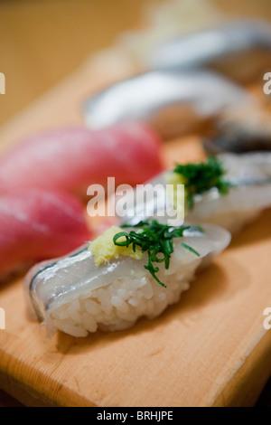 Sushi, Tokyo, Kanto Region, Honshu, Japan Stock Photo