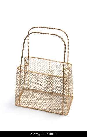 Mesh Wire Carry Basket - Stock Photo