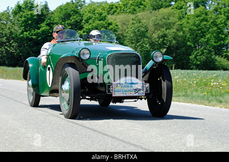 Buckler MK5 Cabriolet, 1949, in the Tour de Bretagne Classic car rally 2010, Cotes-d'Armor (22) France - Stock Photo