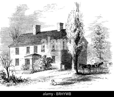 American Revolutionary general Charles Lee (his NY house here) was born in England. He settled in Virginia in 1773. - Stock Photo