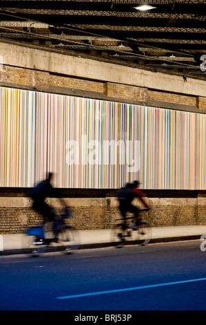 Poured Lines on Southwark Street, London by Ian Davenport - Stock Photo