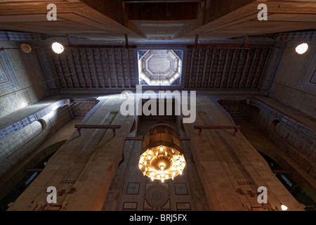 interior shot of Al Rifa i Mosque, islamic Cairo, Egypt, Arabia, Africa - Stock Photo