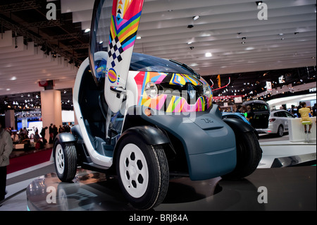 Paris, France, Paris Car Show, Renault Electric Car, Micro Car, 'Twizy' on display - Stock Photo