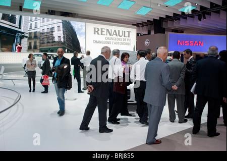Paris, France, Paris Car Show, Businessmen Visiting, Renault Company 'Trade SHow' - Stock Photo