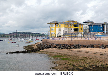 Cloudy day view of the River Exe at Exmouth in Devon, England - Stock Photo