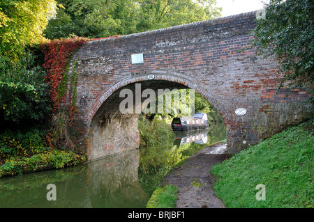 Bridge over Grand Union Canal, Hatton, Warwickshire, UK - Stock Photo