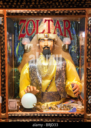 Close up of a Zoltar fortune telling machine in the Forum shops, Caesars Palace Hotel, the strip, Las Vegas USA - Stock Photo