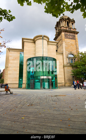 View of Laing Art Gallery in Newcastle City Centre, north east england. - Stock Photo
