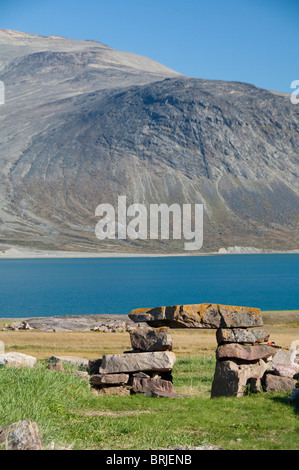 Greenland, Igaliku (aka Igaliko). Ruins of Gardar.