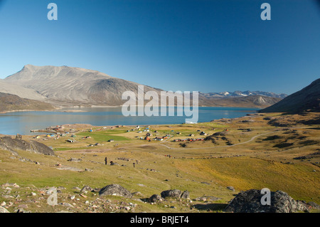 Greenland, Igaliku. Small settlement on the Igaliku Fjord. Best known for ruins of Gardar.
