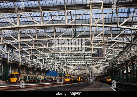 Glasgow Central railway station, Glasgow, Scotland, UK - Stock Photo