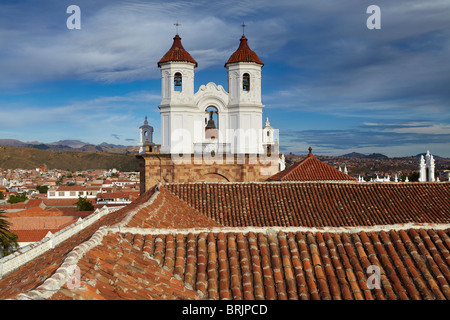 rooftops in Sucre, Bolivia - Stock Photo