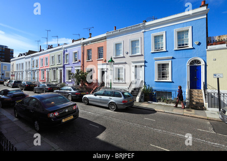 'Hillgate Village' Houses at Notting Hill Gate London - Stock Photo