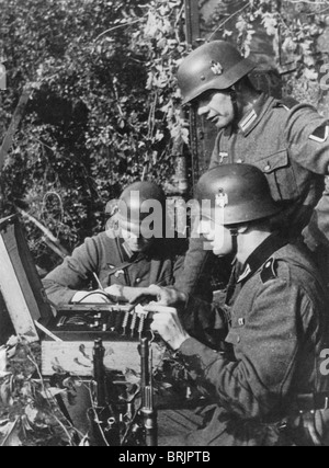 ENIGMA  MACHINE  in use by Germany army during WW2 - Stock Photo