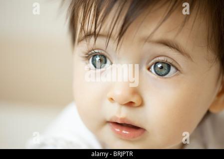Baby girl, portrait - Stock Photo