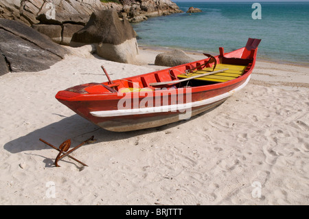 Small red boat - Stock Photo