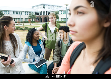 High school friends together after school - Stock Photo