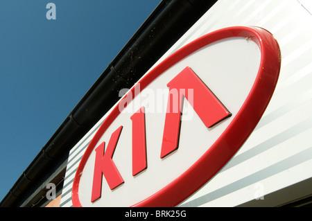 kia south korean korea car maker manufacturer brand logo branding badge logos cheap cars dealer dealership dealerships - Stock Photo