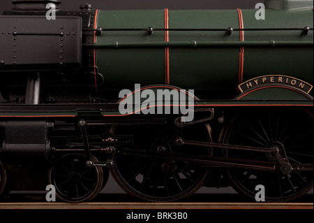 BR Green Livery A3 Class Pacific Locomotive - Stock Photo