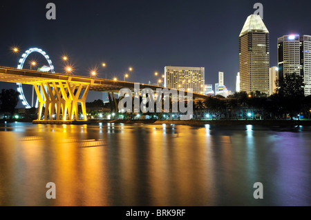 The Marina landscape as viewed from Tanjong Rhu in Singapore. - Stock Photo