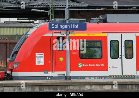 S Bahn S7 (suburban railway) Solingen to Dortmund, North Rhine-Westphalia, Germany. - Stock Photo