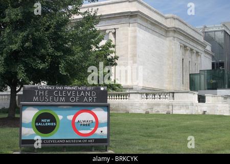 Cleveland Museum of Art - Case Western Reserve University - Cleveland Ohio - Stock Photo