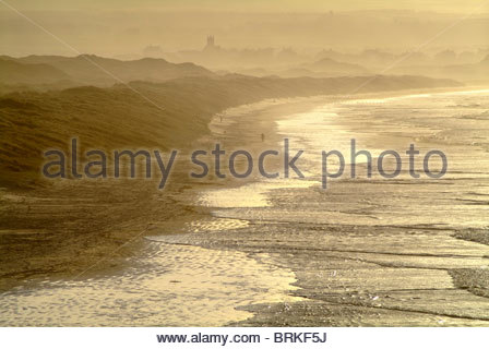 Long view over Portstewart Strand, Derry - Stock Photo