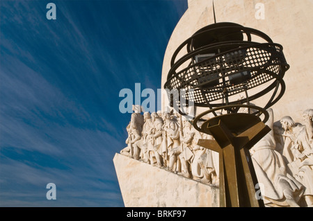 Monument to the Discoveries Belem Lisbon Portugal - Stock Photo