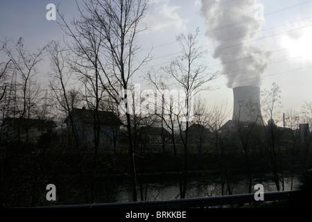 Residential area near Gosgen Nuclear Power Plant in Switzerland.