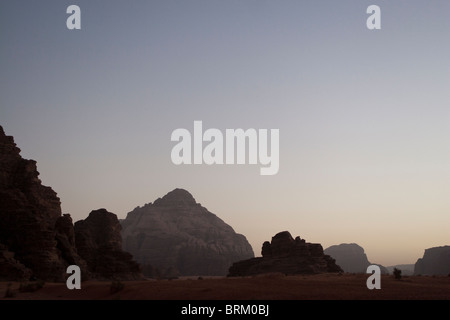 Sunset, Wadi Rum, Jordan. - Stock Photo