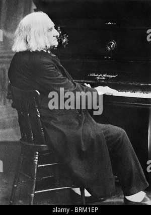 Vintage photo circa 1880 of Hungarian composer and pianist Franz Liszt (1811 - 1886). - Stock Photo