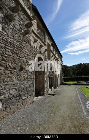 Valle Crucis Abbey near Llangollen in Wales. - Stock Photo