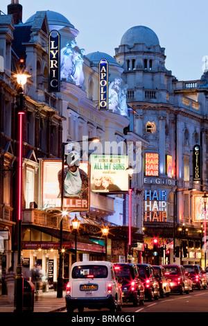 'Theatreland', Shaftesbury Avenue, London, England - Stock Photo