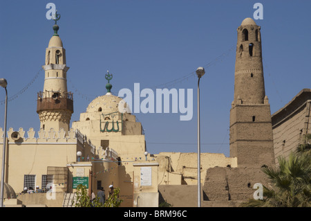 Egypt. Luxor. Mosque of Abu El-Haggag built inside the temple of Luxor during the Ayyubids sultans (13th century). - Stock Photo