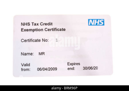 Nhs perscription card