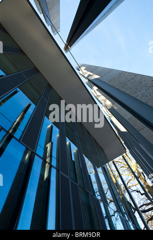 modern glass and concrete new building for wiltshire county council in Salisbury UK - Stock Photo