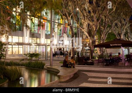 View of Store in Lincoln Road Mall, a very popular tourist destination in Miami. - Stock Photo