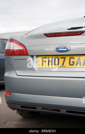 Close up view of rear of a ford mondeo family car. - Stock Photo