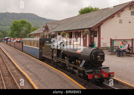 Dalegarth for Boot station on the Ravenglass and Eskdale narrow gauge railway ( La'al Ratty ) in Cumbria , England - Stock Photo